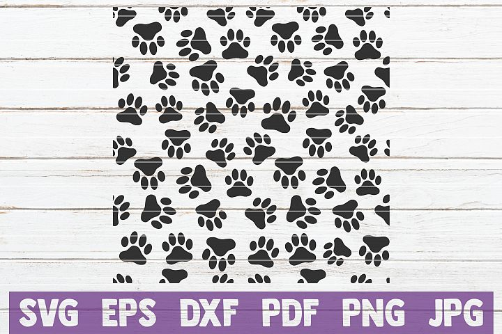 Paw Pattern SVG Cut file | Dog Paw Overlay
