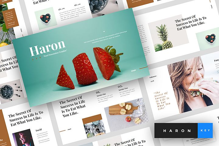Haron - Food Keynote Template