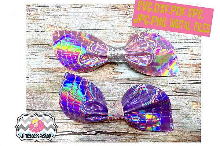 Pinch Center Asymmetrical Pointy Hair Bow Template