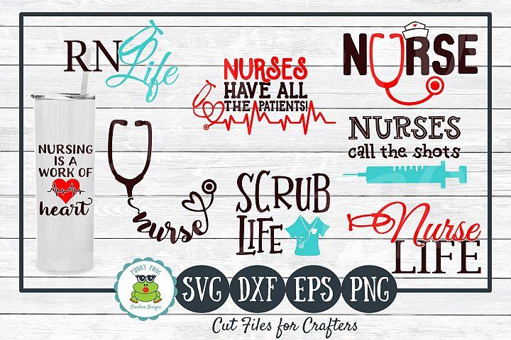 Nurse Life Design Bundle SVG Cut Files for Crafters