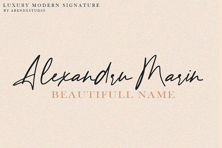 Baekrajan Luxury Modern Signature example image 2
