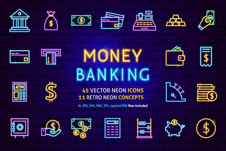Banking Finance Neon