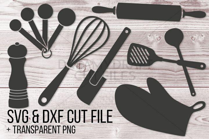 Kitchen utensils clip art | SVG & DXF cut files