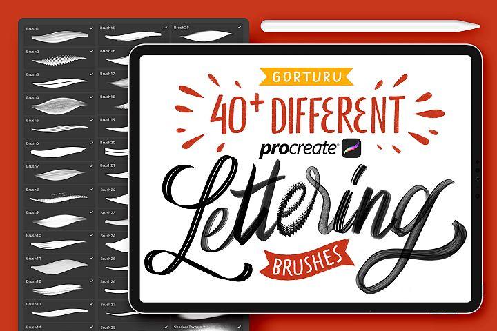40 Procreate Lettering Brushes