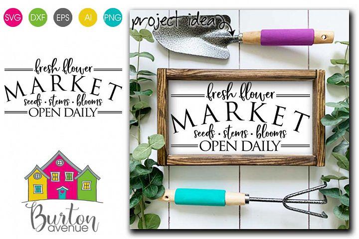 Fresh Flower Market SVG file for Spring