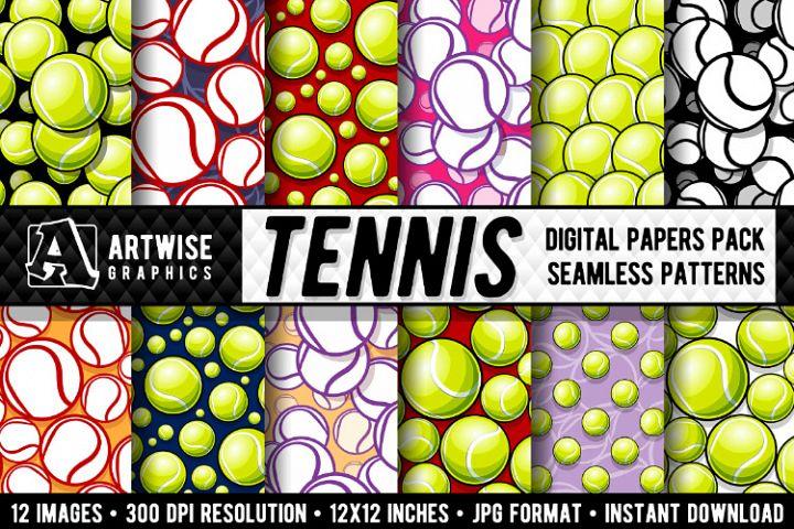 Tennis Balls Digital Paper Graphics