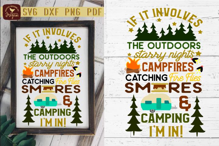 If It Involves Camping Camper Summer Wood Sign SVG DXF