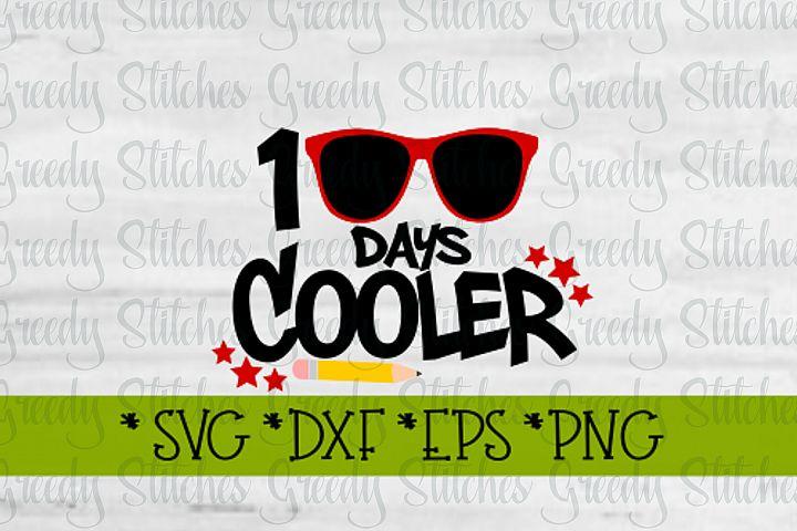 100 Days Cooler SVG, DXF, EPS, PNG.
