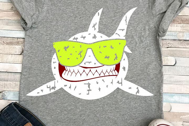 shark boy with sunglasses