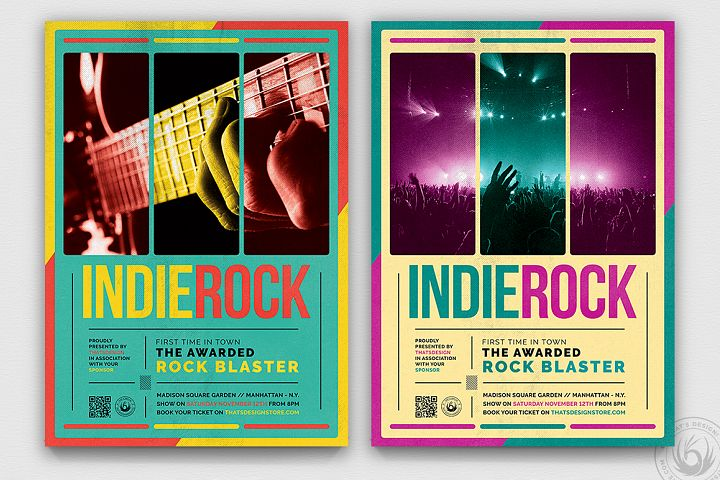 Indie Rock Flyer Template V2
