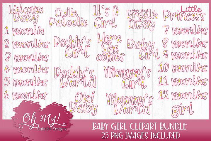 Baby Girl Polkadots Bundle Clipart Graphics 25 Images
