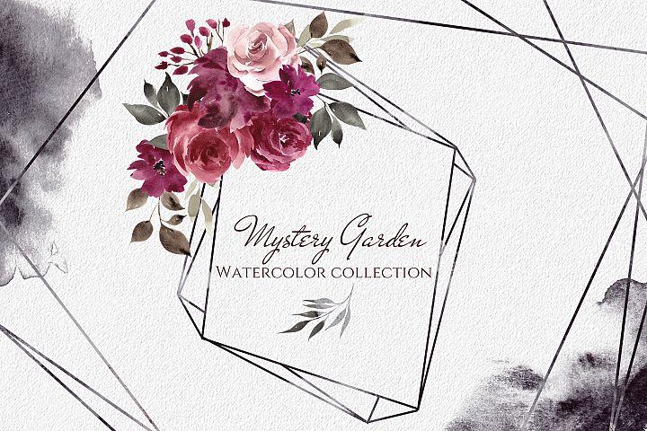 Mystery Garden. Watercolor collection