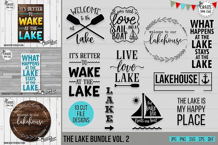 The Lake Bundle Vol. 2- A Summer/Lake SVG Cut File Bundle