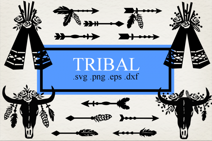 Tribal SVG PNG DXF EPS Set