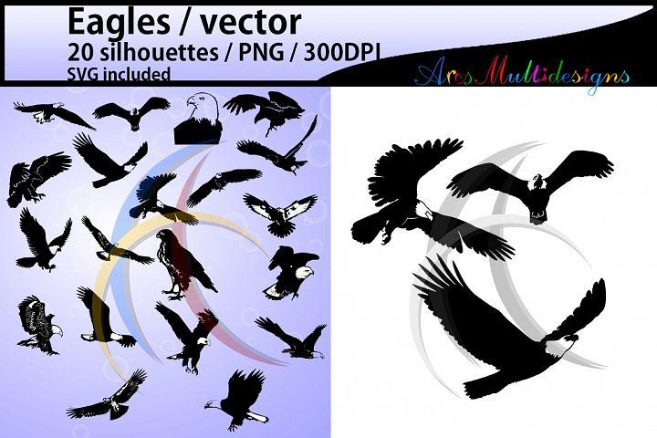 eagles svg / eagles silhouette / eagle SVG EPS files / eagle digital silhouette / craft files / layer base svg format / bird svg