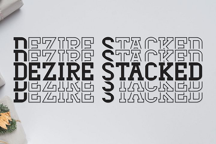 Dezire Stacked - Mirrored Font