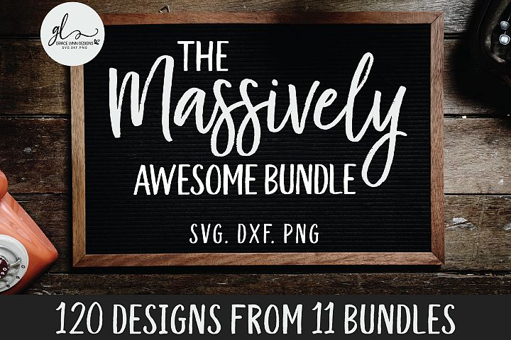 The Massively Awesome Bundle - 120 Designs from 11 Bundles