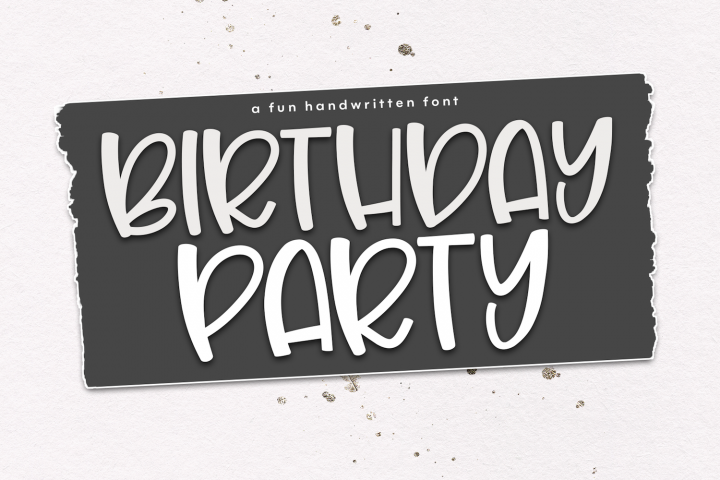 Birthday Party - A Cute & Quirky Handwritten Font