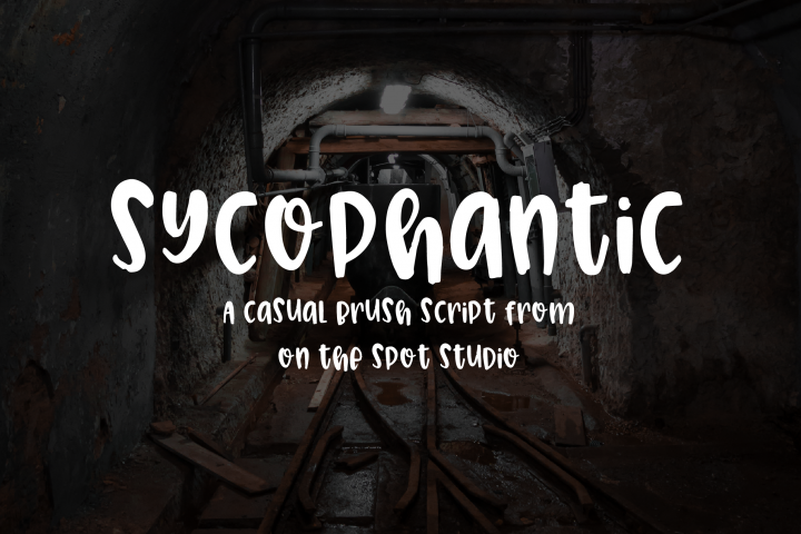 Sycophantic - Free Font of The Week