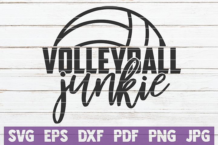 Volleyball Junkie SVG Cut File