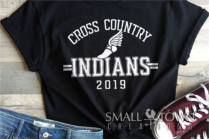 Indian Cross Country, Indians mascot, PRINT, CUT, DESIGN