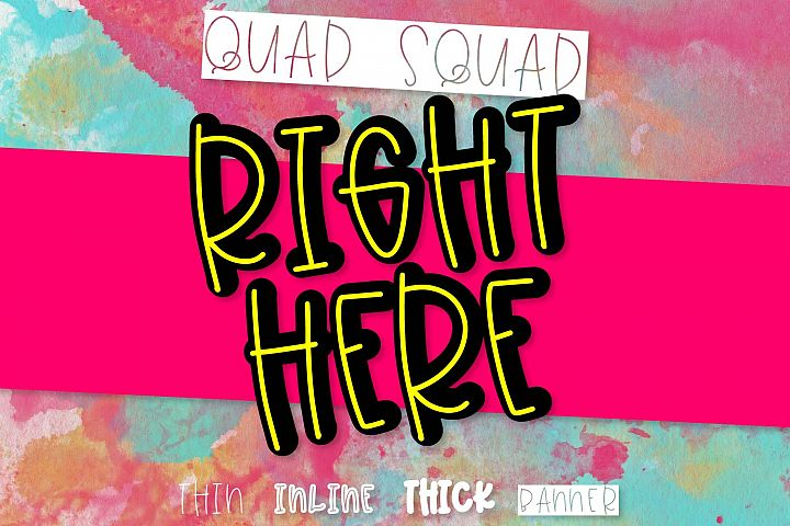 Right Now - A Font Quad example image 1
