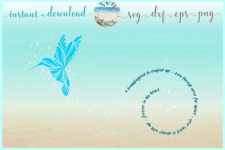 Hummingbird to Remind Me Mandala Zentangle SVG Dxf Eps Png f