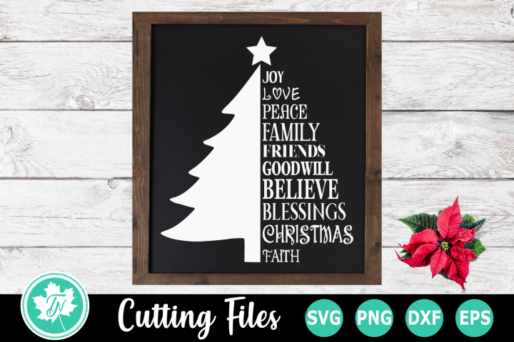 Christmas Tree Words - A Christmas SVG Cut File