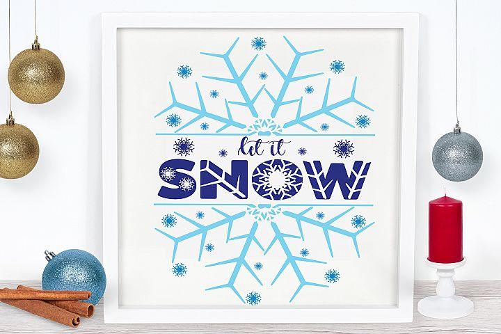 Let it Snow Cut File