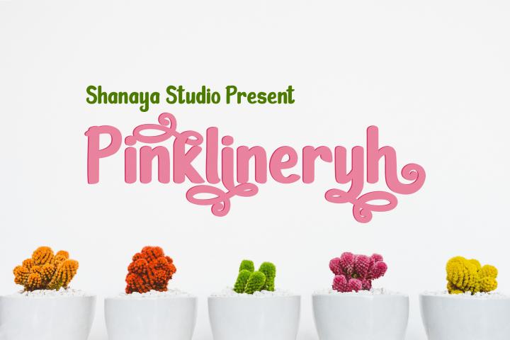 Pinklineryh | Cute Font