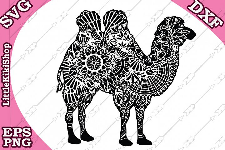 Zentangle Camel Svg,Mandala Camel Svg, Camel cut files