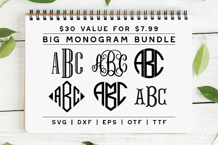 BIG Monogram Font Bundle | The Ultimate Bundle!