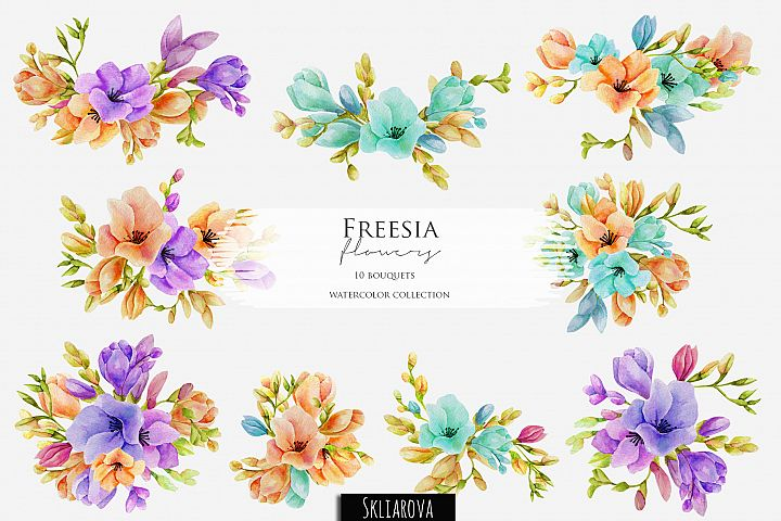 Freesia. 10 bouquets