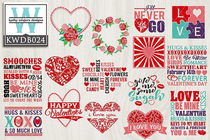 Valentines SVG - Valentines Bundle KWDB024
