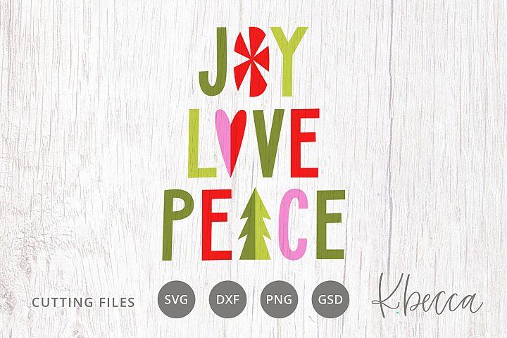 Joy Love Peace Christmas SVG Cut Files