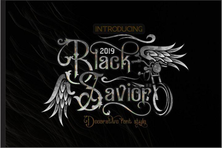 Black Savior - decorative calligraphy Display Font