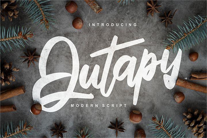 Qutapy | Modern Script Font