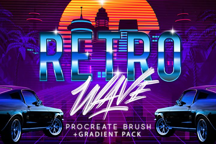 RETRO WAVE BRUSH FOR PROCREATE