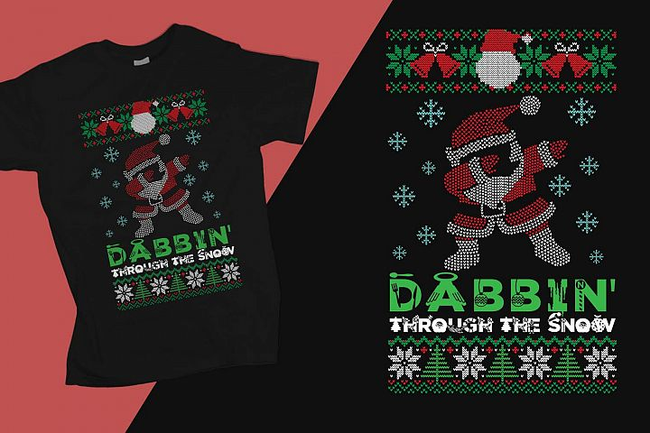 Dabbin through the snow Christmas Printable