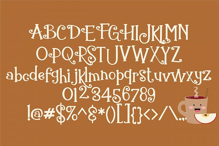 ZP Gingerbread Cake - Free Font of The Week Design0
