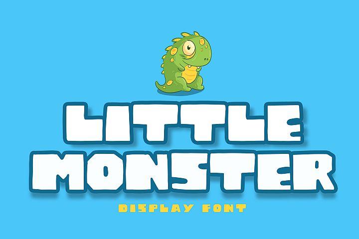Little Monster Display Font
