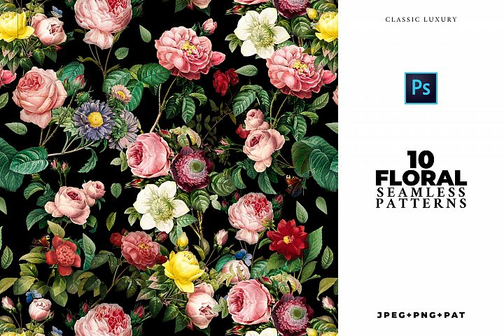 Elegant Seamless Flower Patterns