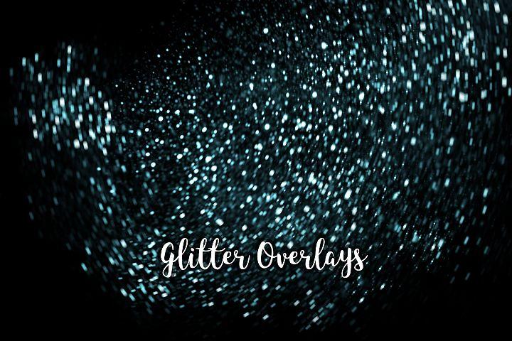 Glitter Dust Overlays, Glitter Bokeh Texture Overlays