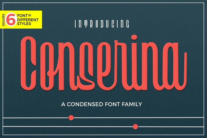 Conserina Typeface