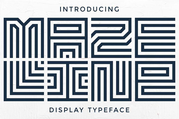 Maze Line Typeface