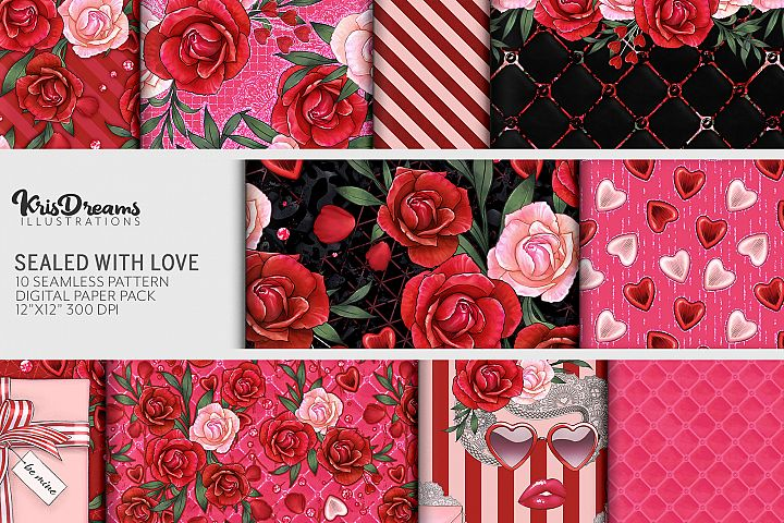 Sealed with Love Digital Paper