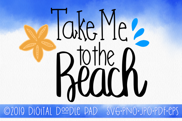 To The Beach | Summer SVG Cut File for Silhouette & Cricut