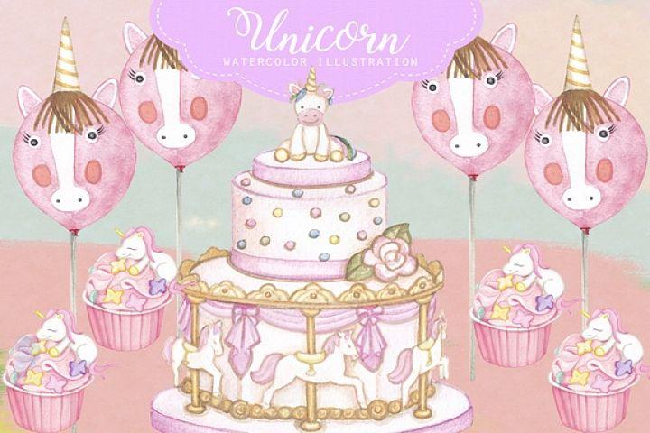Unicorn Party Cart Clipart Images