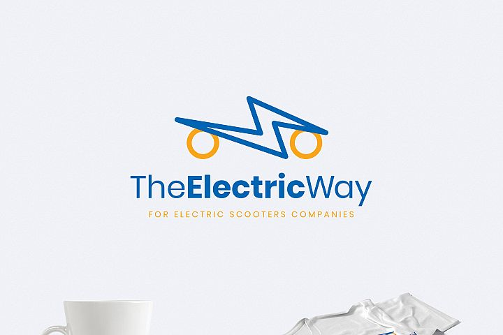 Electric Scooters Logo Template