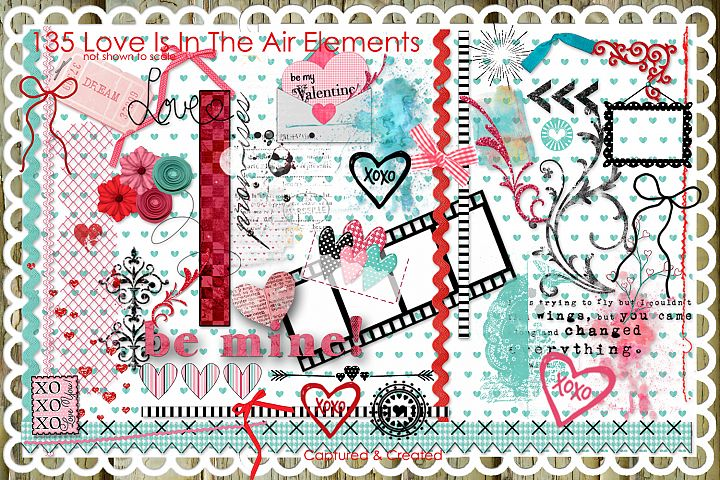 Love Is In The Air 135 Elements/Clipart